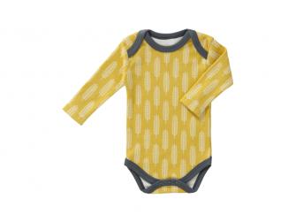Body s dlouhým rukávem Havre vintage yellow, newborn