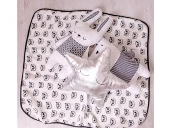 Tenká flísová deka Panda 3