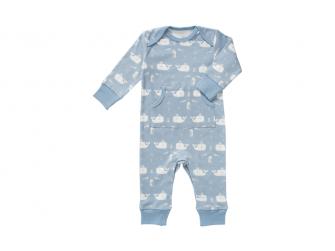 Dětské pyžamo Whale blue fog, 0-3 m