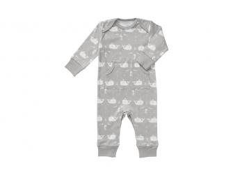 Dětské pyžamo Whale dawn grey, newborn