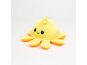 plyšová chobotnice 8cm Yellow/Orange 3