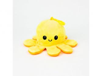 plyšová chobotnice 8cm Yellow/Orange 2