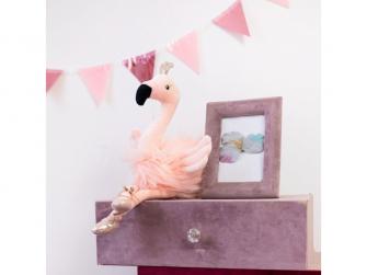 látková hračka BALLERINA Flamingo 25cm 7