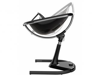 Židlička Moon 2G chrom / černá + opěrka nohou 4