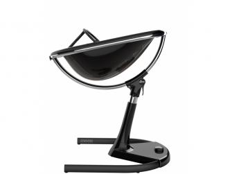 Židlička Moon 2G chrom / černá + opěrka nohou 5