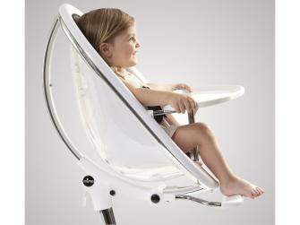 Židlička Moon 2G chrom / černá + opěrka nohou 10