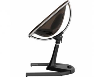 Židlička Moon 2G chrom / černá + opěrka nohou 3