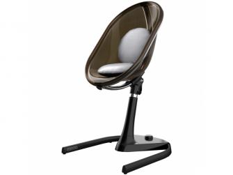 Židlička Moon 2G chrom / černá + opěrka nohou 2