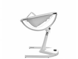 Židlička Moon 2G chrom / průhledná + opěrka nohou 3