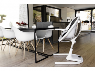 Židlička Moon 2G chrom / průhledná + opěrka nohou 12