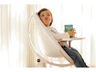 Židlička Moon 2G chrom / průhledná + opěrka nohou 9