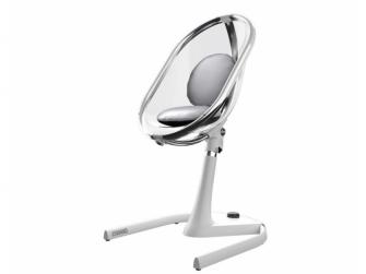 Židlička Moon 2G chrom / průhledná + opěrka nohou 5