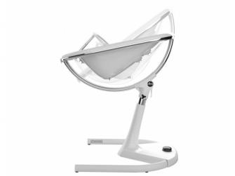 Židlička Moon 2G chrom / průhledná + opěrka nohou 4