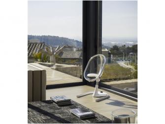 Židlička Moon 2G chrom / průhledná + opěrka nohou 13