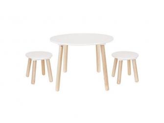 Dřevěný stůl a 2 stoličky