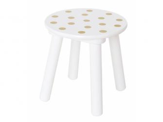 Dřevěná stolička zlatá