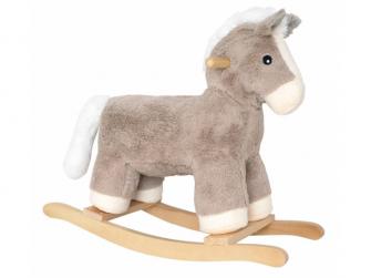 Plyšový houpací koník
