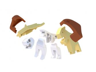 LEV - magnetická skládací hračka s 3D modelem savany 3