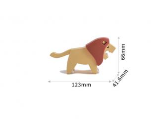 LEV - magnetická skládací hračka s 3D modelem savany 5