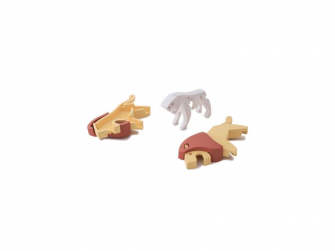 LEV - magnetická skládací hračka s 3D modelem savany 2