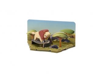 LEV - magnetická skládací hračka s 3D modelem savany 7
