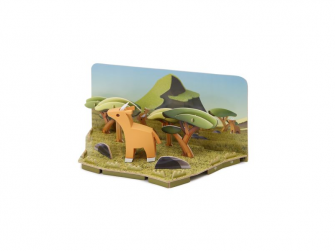 ANTILOPA - magnetická skládací hračka s 3D modelem savany 2
