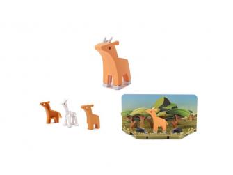 ANTILOPA - magnetická skládací hračka s 3D modelem savany