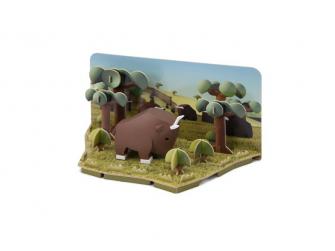 PAKŮŇ - magnetická skládací hračka s 3D modelem savany 2