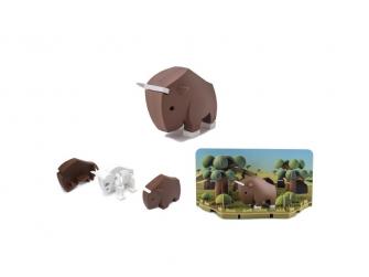 PAKŮŇ - magnetická skládací hračka s 3D modelem savany