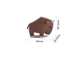 PAKŮŇ - magnetická skládací hračka s 3D modelem savany 6