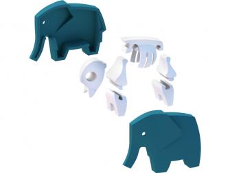 SLON - magnetická skládací hračka s 3D modelem savany 5