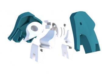SLON - magnetická skládací hračka s 3D modelem savany 6