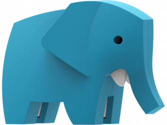 SLON - magnetická skládací hračka s 3D modelem savany 3