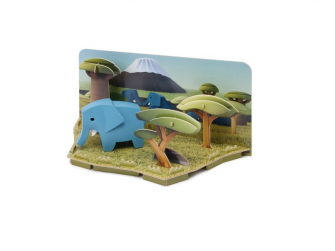 SLON - magnetická skládací hračka s 3D modelem savany 2