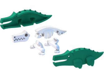 KROKODÝL - magnetická skládací hračka s 3D modelem savany 3
