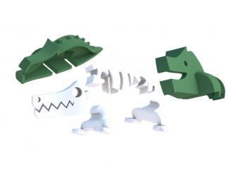 KROKODÝL - magnetická skládací hračka s 3D modelem savany 4
