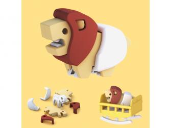 BABY LEV - magnetická skládací hračka