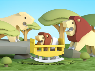 BABY LEV - magnetická skládací hračka 5