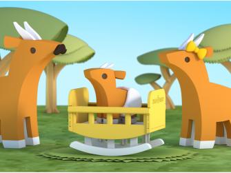 BABY ANTILOPA - magnetická skládací hračka 6