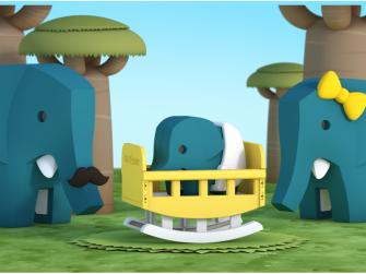 BABY SLON - magnetická skládací hračka 6