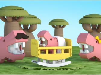 BABY HROCH - magnetická skládací hračka 5