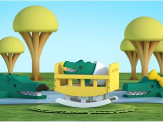 BABY KROKODÝL - magnetická skládací hračka 6