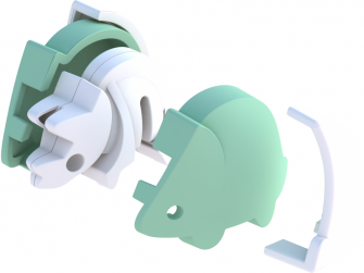 BABY TRICERA - magnetická skládací hračka 3