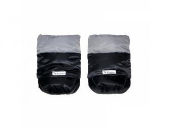Rukavice na kočárek WarMMuff Black-Grey