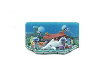 ŽRALOK PILONOS -magnetická skládací hračka s 3D modelem oceánu 2