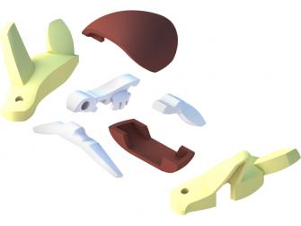 ŽELVA - magnetická skládací hračka s 3D modelem oceánu 3