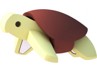 ŽELVA - magnetická skládací hračka s 3D modelem oceánu 4
