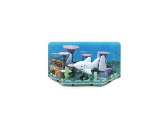 ŽRALOK BÍLÝ - magnetická skládací hračka s 3D modelem oceánu 6