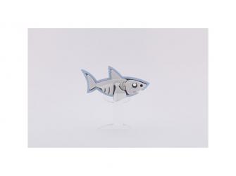 ŽRALOK BÍLÝ - magnetická skládací hračka s 3D modelem oceánu 3
