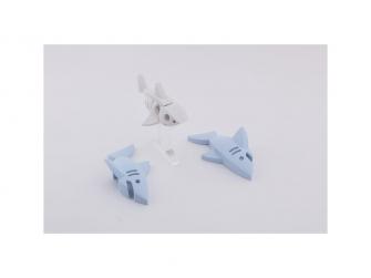 ŽRALOK BÍLÝ - magnetická skládací hračka s 3D modelem oceánu 5